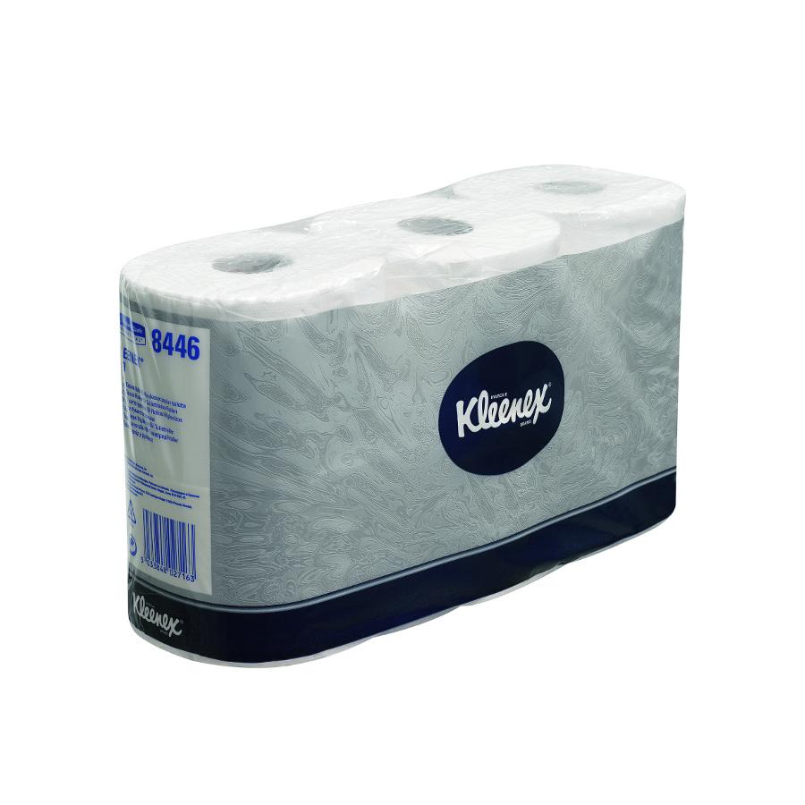 Toaletní papír KLEENEX,  malé roličky, bílý, 2 vrstvy,  36 rolí x 600 útržků