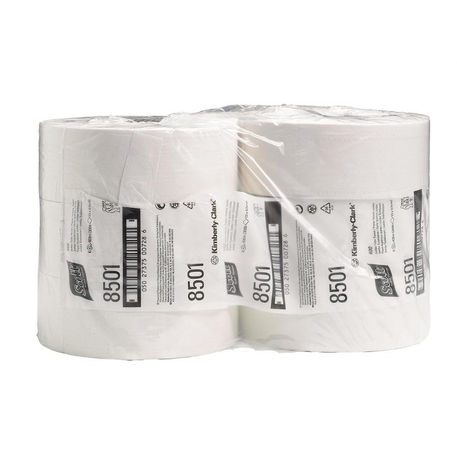 Toaletní papír SCOTT MAXI JUMBO 26 cm, bílý, 2 vrstvy, 6 rolí x 1053 útržků