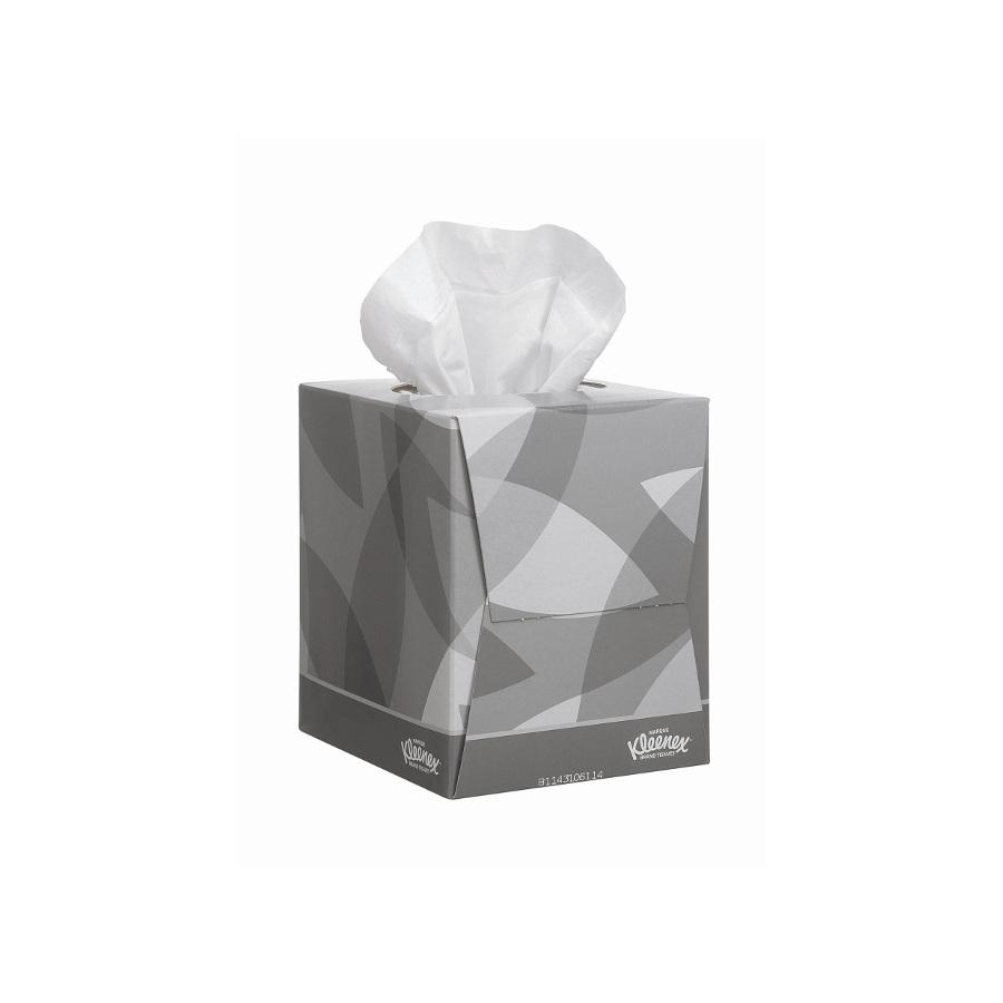 Kapesníčky KLEENEX CUBE, bílé, 1080 ks, 12 krabiček x 90 ks