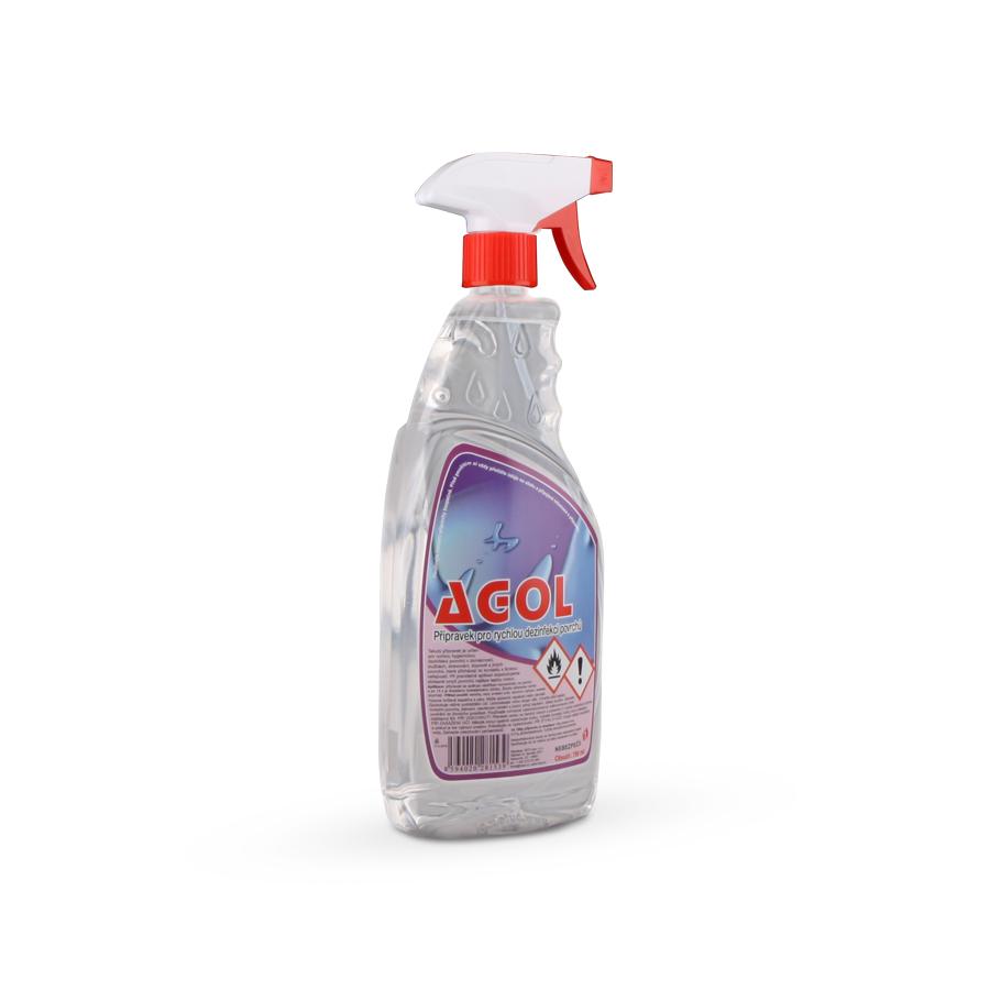 Dezinfekce povrchů na bázi alkoholu AGOL, 12 x 750 ml PET láhev s rozprašovačem