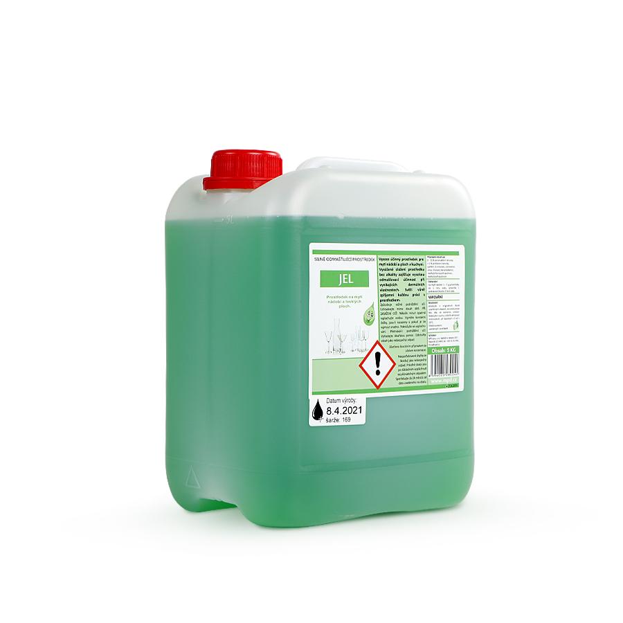 Prostředek čisticí JEL 5 kg kanystr na ruční mytí nádobí, 2 x 5 kg