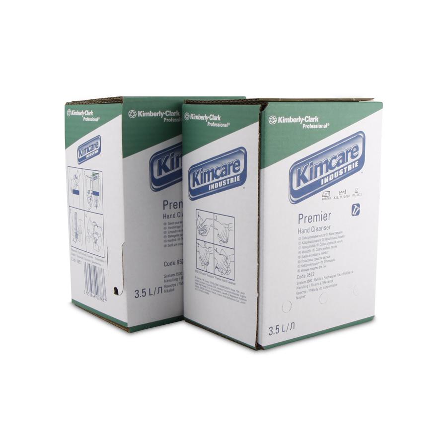 Mýdlo abrazivní tekuté KIMCARE INDUSTRIE PREMIER., 2 x 3,5 l kazeta