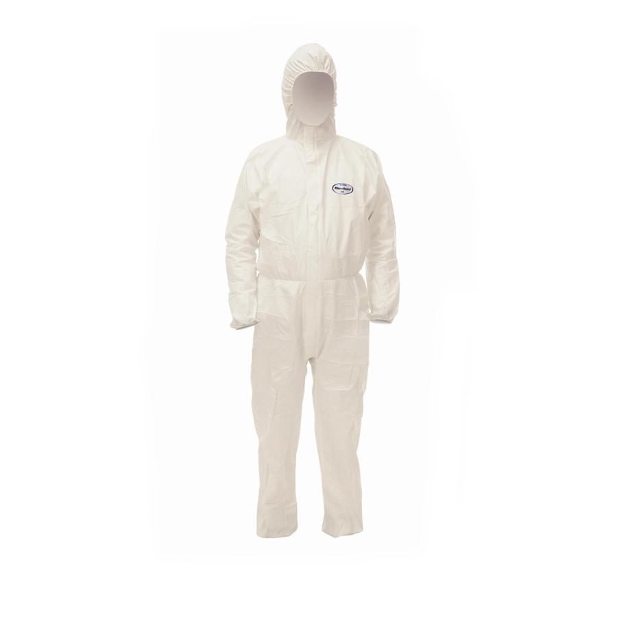 Obleky KLEENGUARD A40 ochranné s kapucí, XL, bílé, 25 ks
