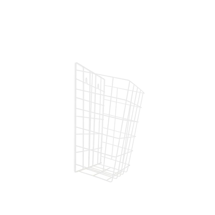 Koš drátěný závěsný malý, 15 l, kovový, bílý