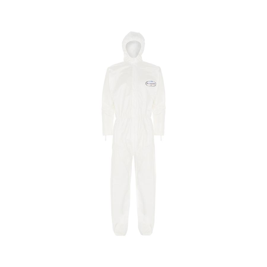 Obleky KLEENGUARD A45, s kapucí, bílé, vel. XL, 25 ks