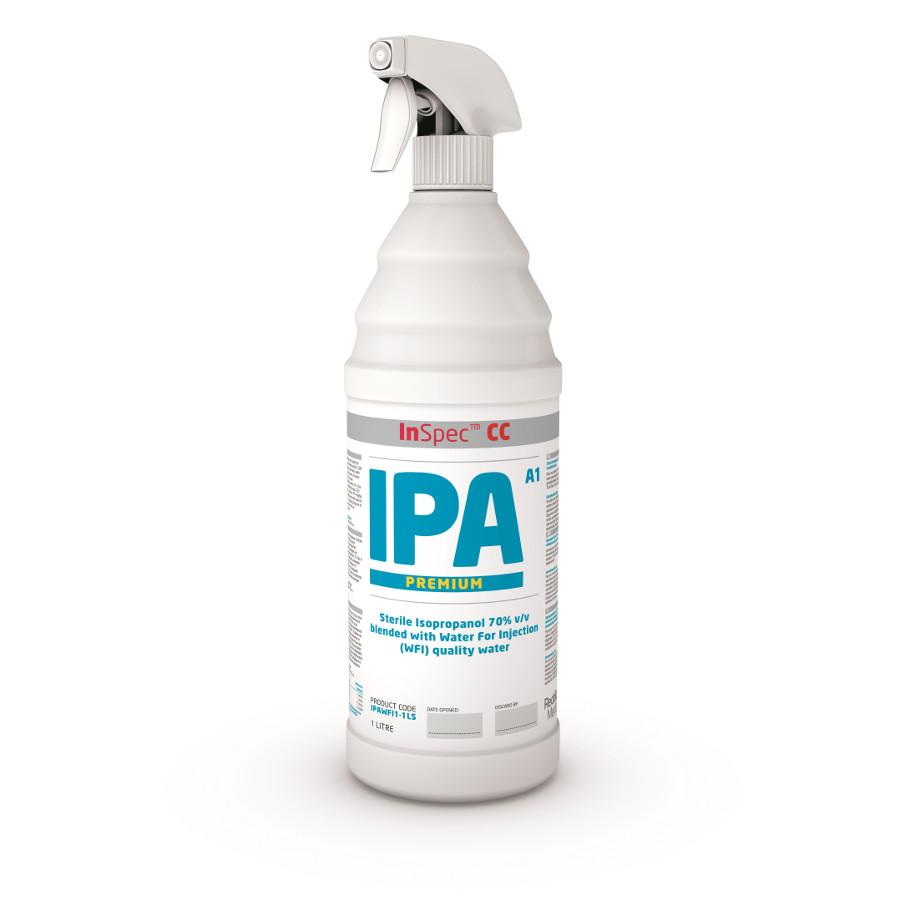 Dezinfekce InSpec IPA 1L Premium, rozprašovač, sterilní, Cleanroom ISO 5