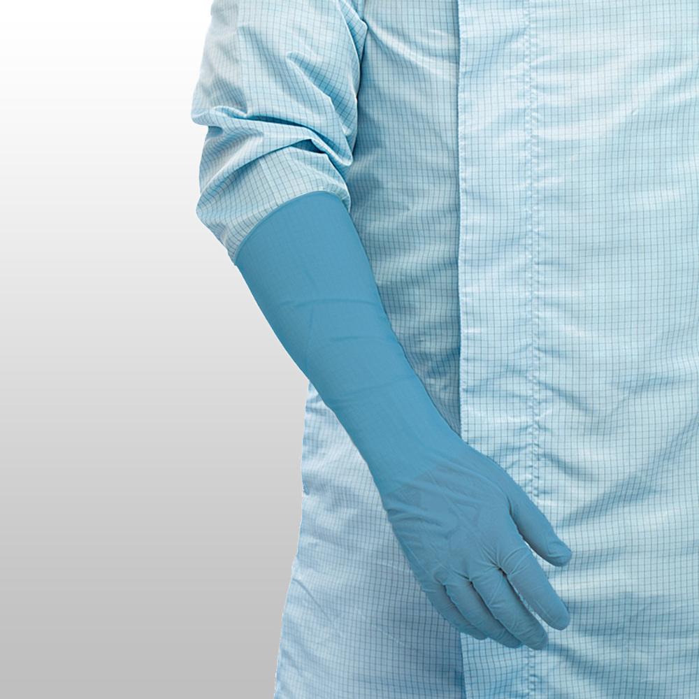 Rukavice nitrilové ONAB-L, extra dlouhé, modré