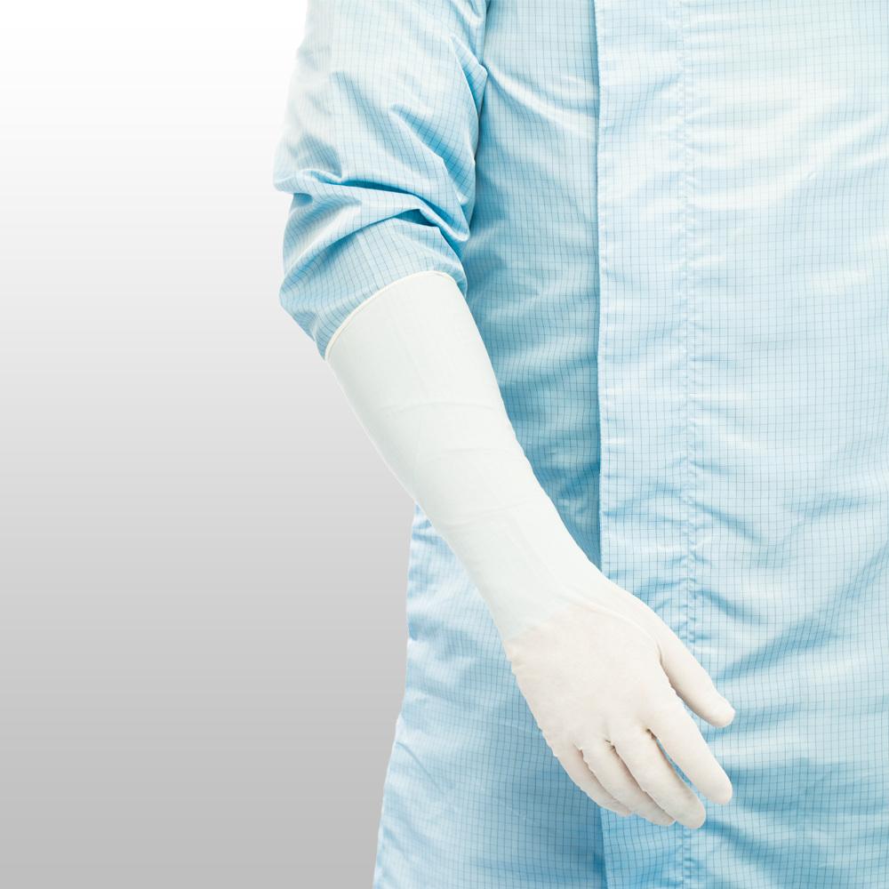 Rukavice nitrilové ONAW-M, extra dlouhé, bílé