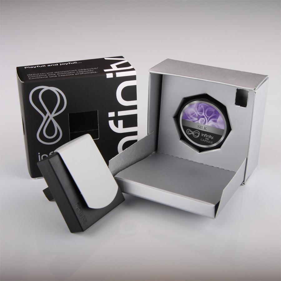 Osvěžovač Auto Infinity, SILK, s obsahem 1 kapsle zdarma