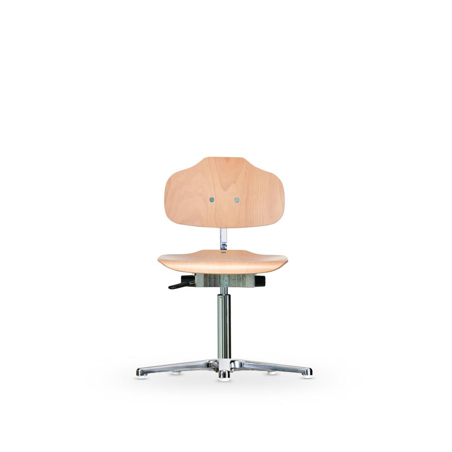 Židle WERKSITZ WS 1010, dřevěná, s kluzáky