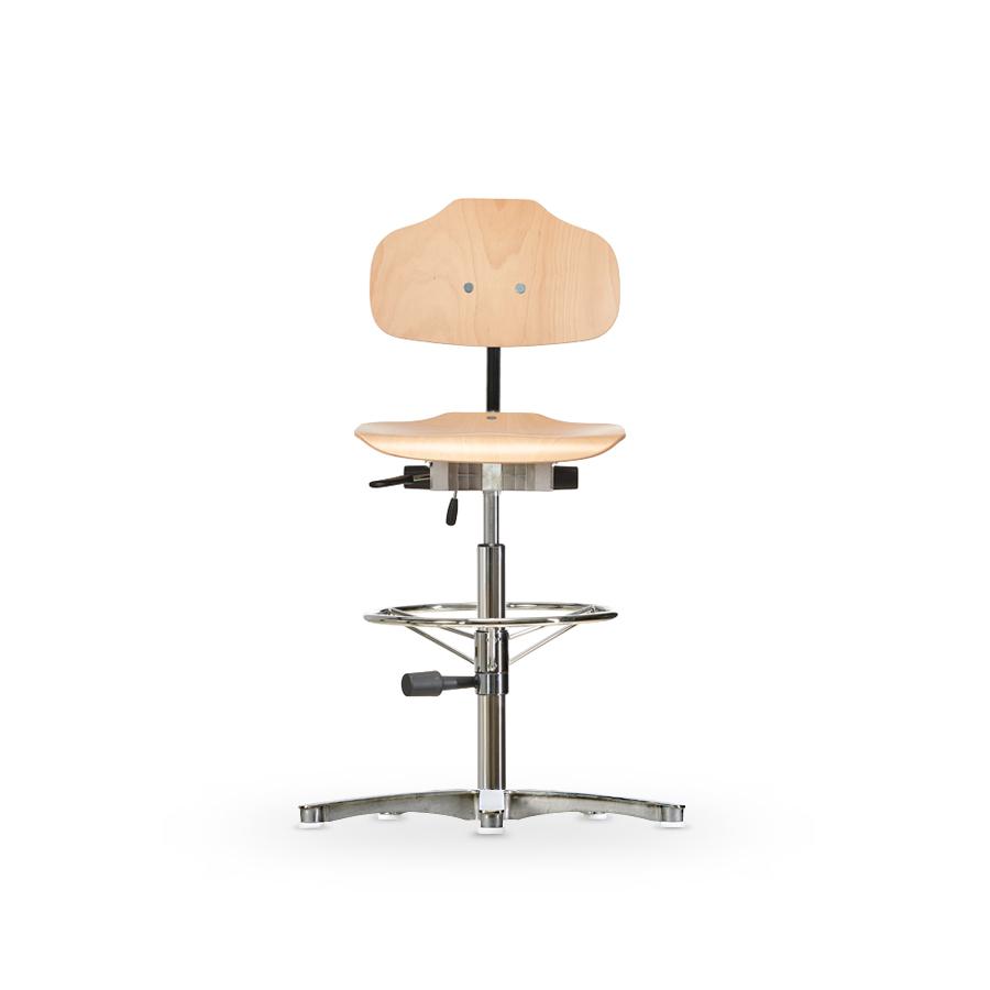Židle WERKSITZ  WS 1011, dřevěná, s kluzáky, vysoká
