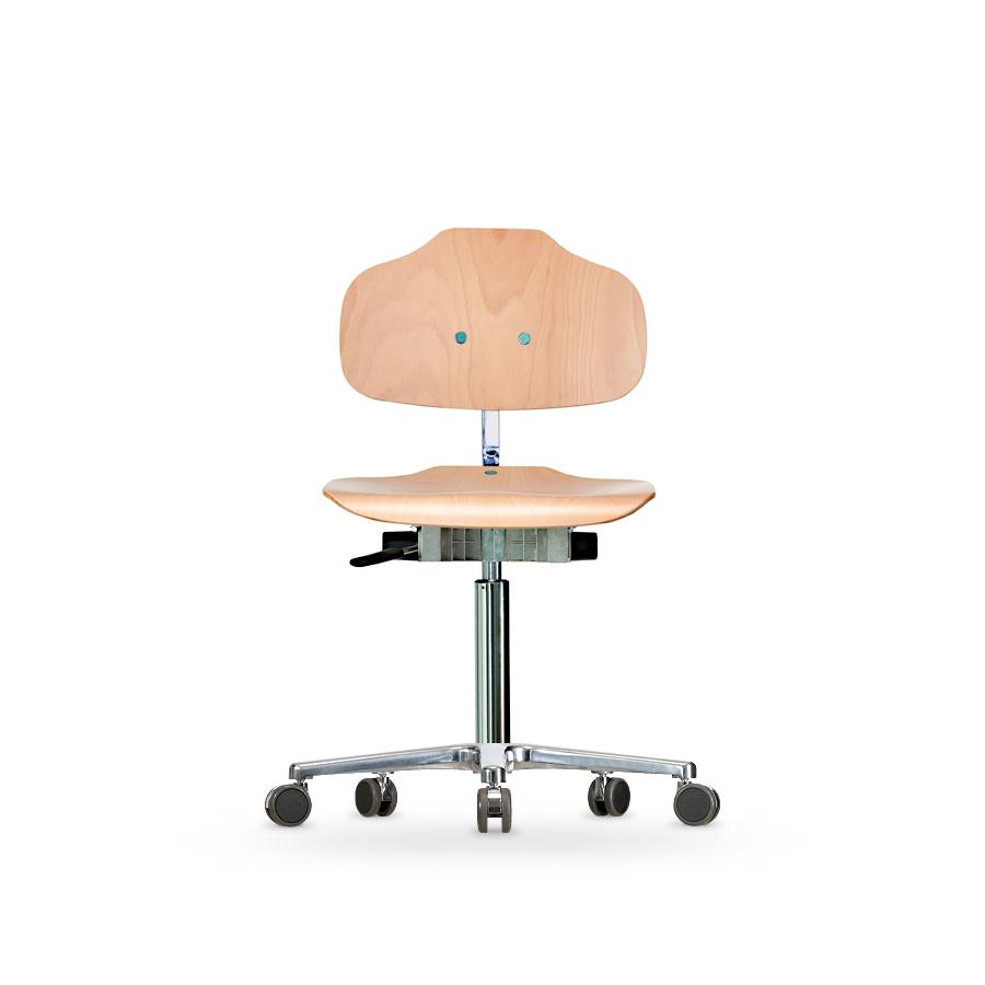 Židle WERKSITZ WS 1020, dřevěná, s kolečky