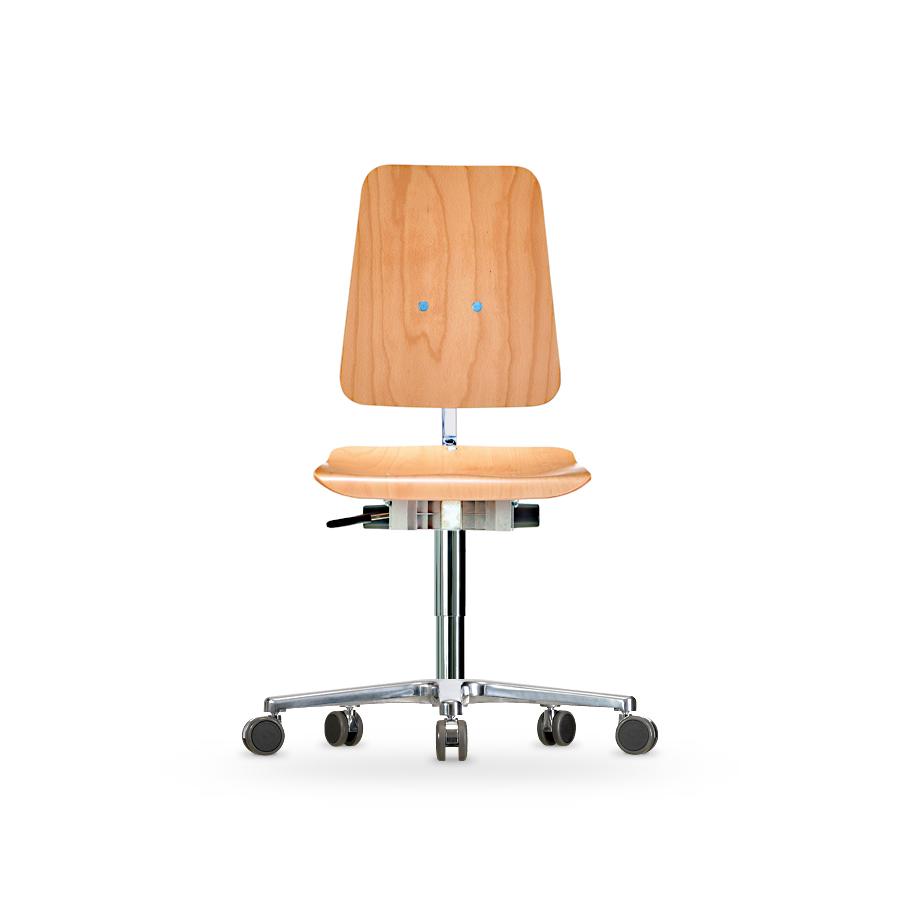 Židle WERKSITZ WS 1020 XL, dřevěná, s kolečky