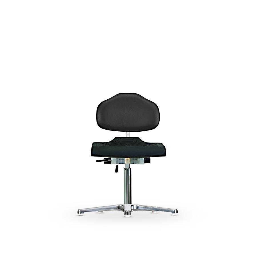 Židle WERKSITZ WS 1210, polyuretan/koženka, s kluzáky