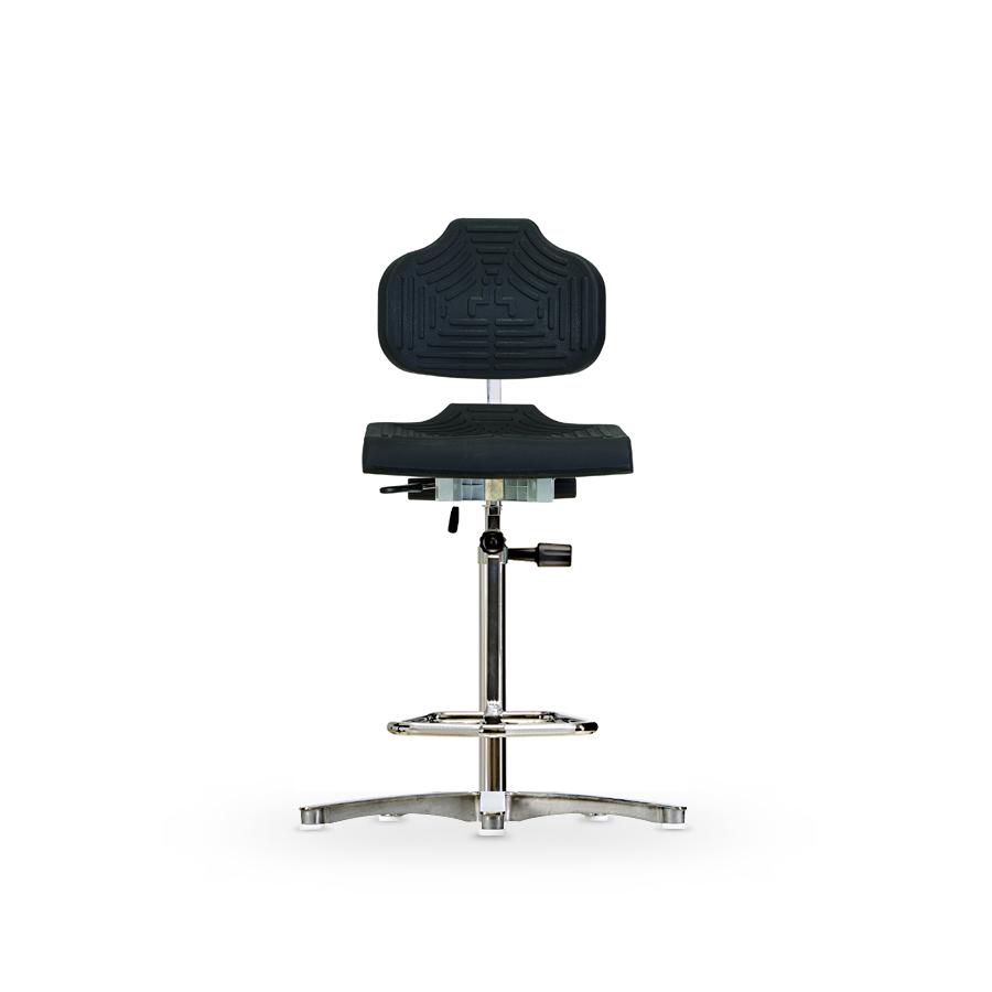 Židle WERKSITZ WS 1211 E, polyuretanová, s kluzáky, vysoká