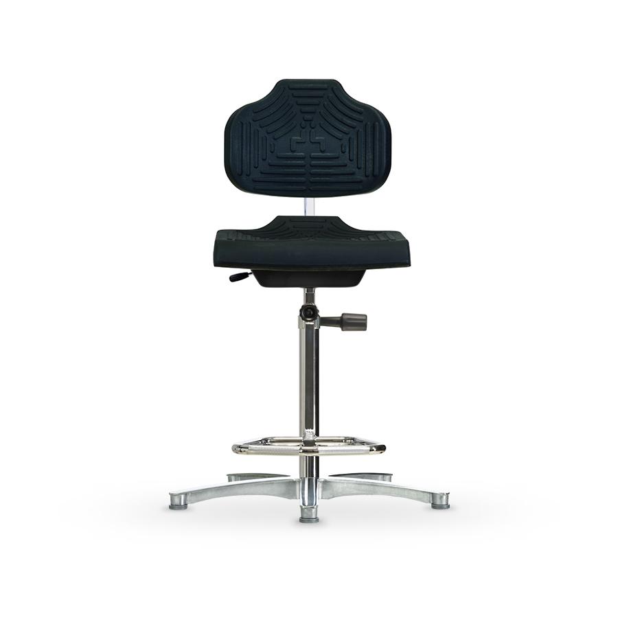 Židle WERKSITZ WS 1211 GMP, polyuretanová, s kluzáky, vysoká