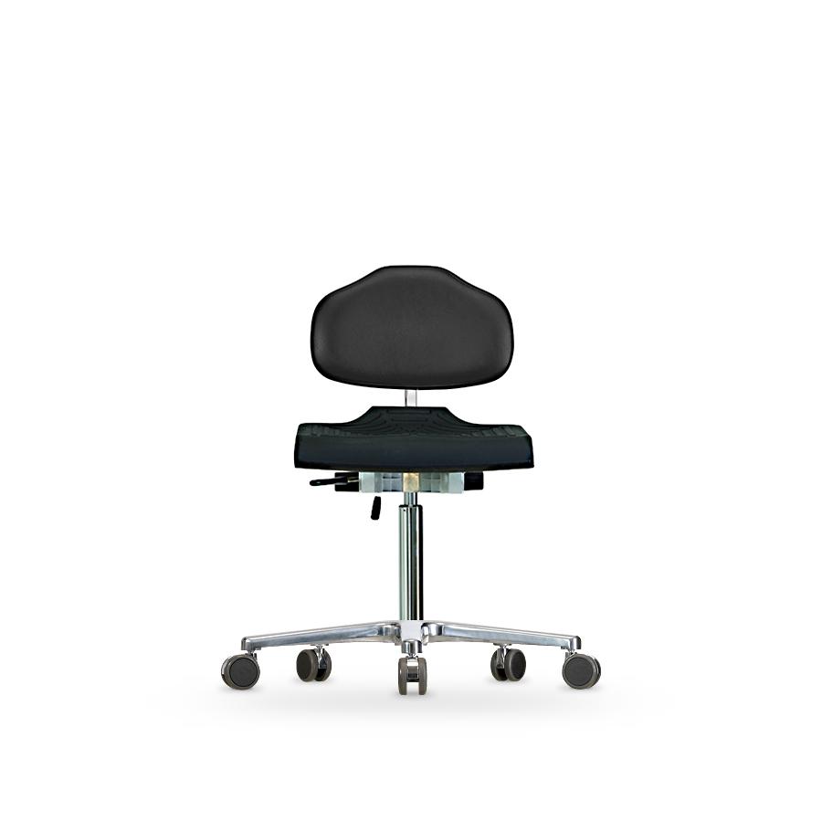 Židle WERKSITZ WS 1220, polyuretan/koženka, s kolečky