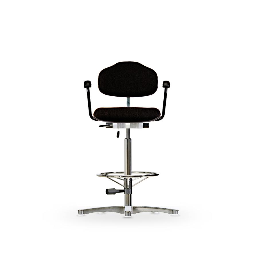 Židle WERKSITZ WS 1311, polstrovaná, s kluzály, vysoká
