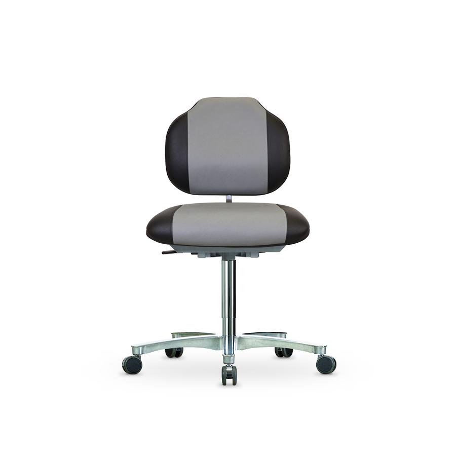 Židle WERKSITZ WS 1389.20 KL, s nosností do 175 kg, koženková, s kolečky