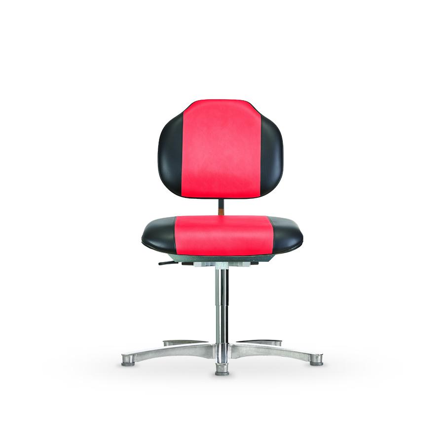 Židle WERKSITZ WS 1389 KL, s nosností do 250 kg, koženková, s kluzáky