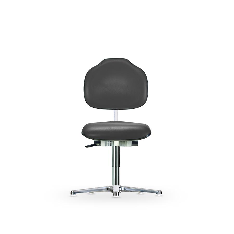 Židle CLASSIC WS 1610 KL ESD, koženková,  s kluzáky