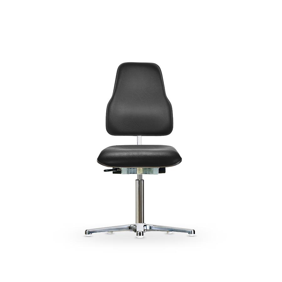 Židle CLASSIC WS 1610 ESD KL XL Ergo, koženková, s kluzáky