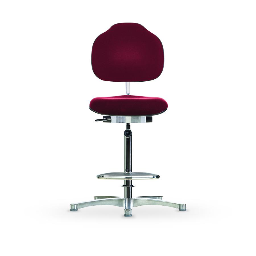 Židle CLASSIC WS 1611 ESD, polstrovaná, s kluzáky, vysoká