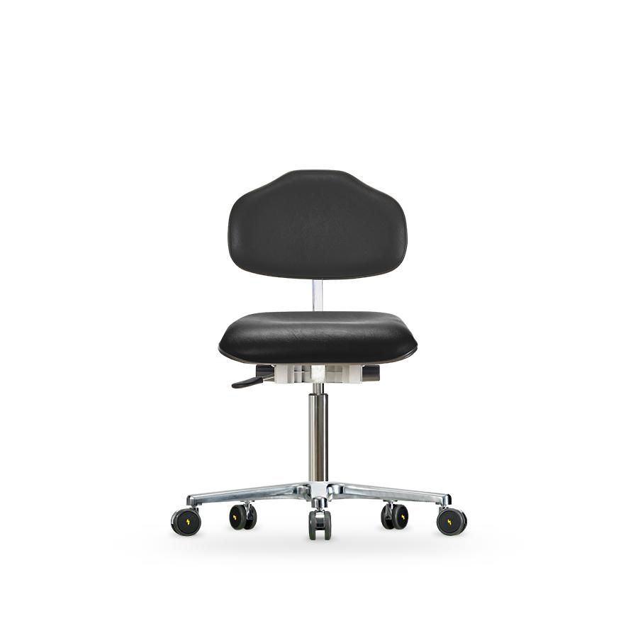 Židle CLASSIC WS 1620 KL ESD, koženková, s kolečky
