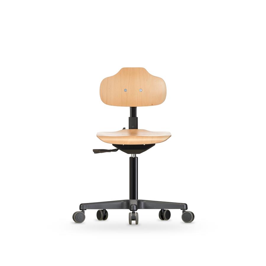 Židle ECONOLINE WS 2120, dřevěná, s kolečky