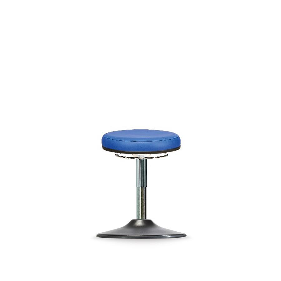 Stolička WS 3310 T KL, koženková, s kruhovým podstavcem