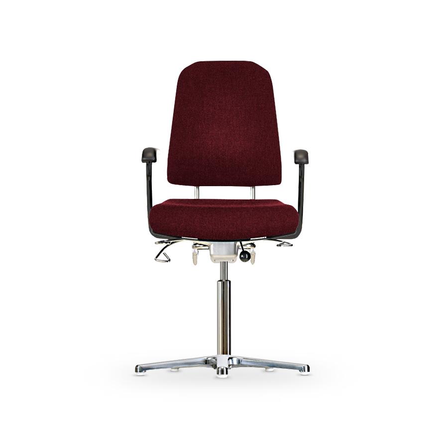 Židle KLIMASTAR WS 9310, polstrovaná, s kluzáky