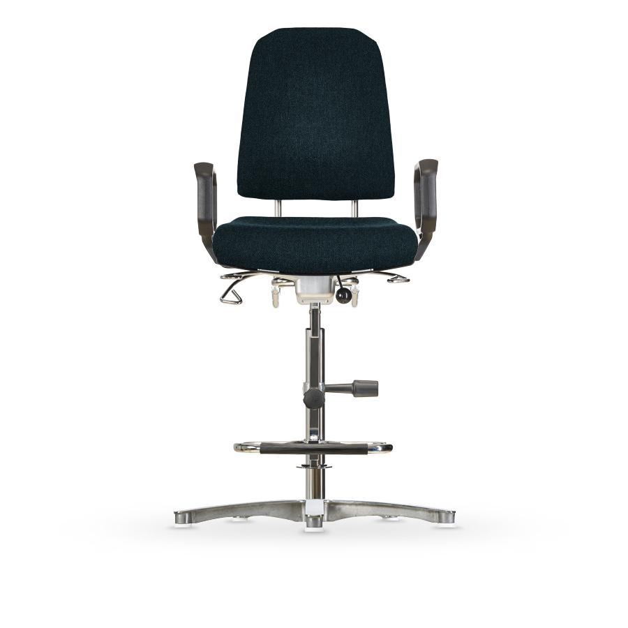 Židle KLIMASTAR WS 9311, polstrovaná, s kluzáky, vysoká