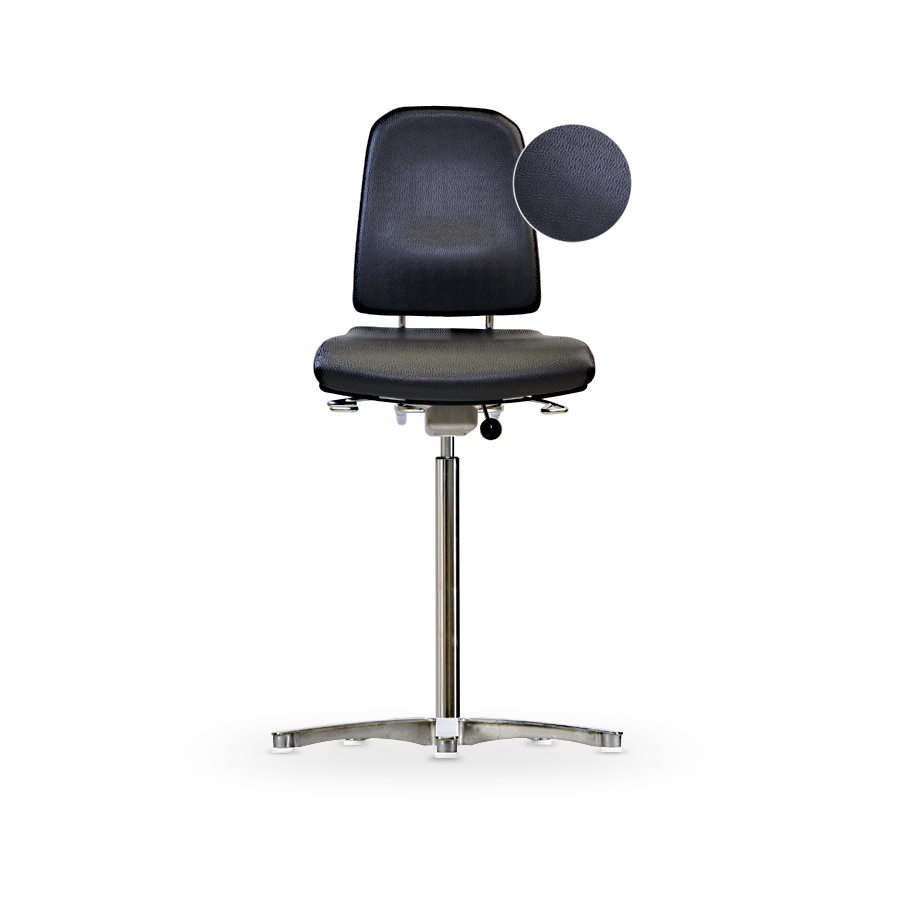 Židle KLIMASTAR WS 9311 KL, koženková, s kluzáky, vysoká