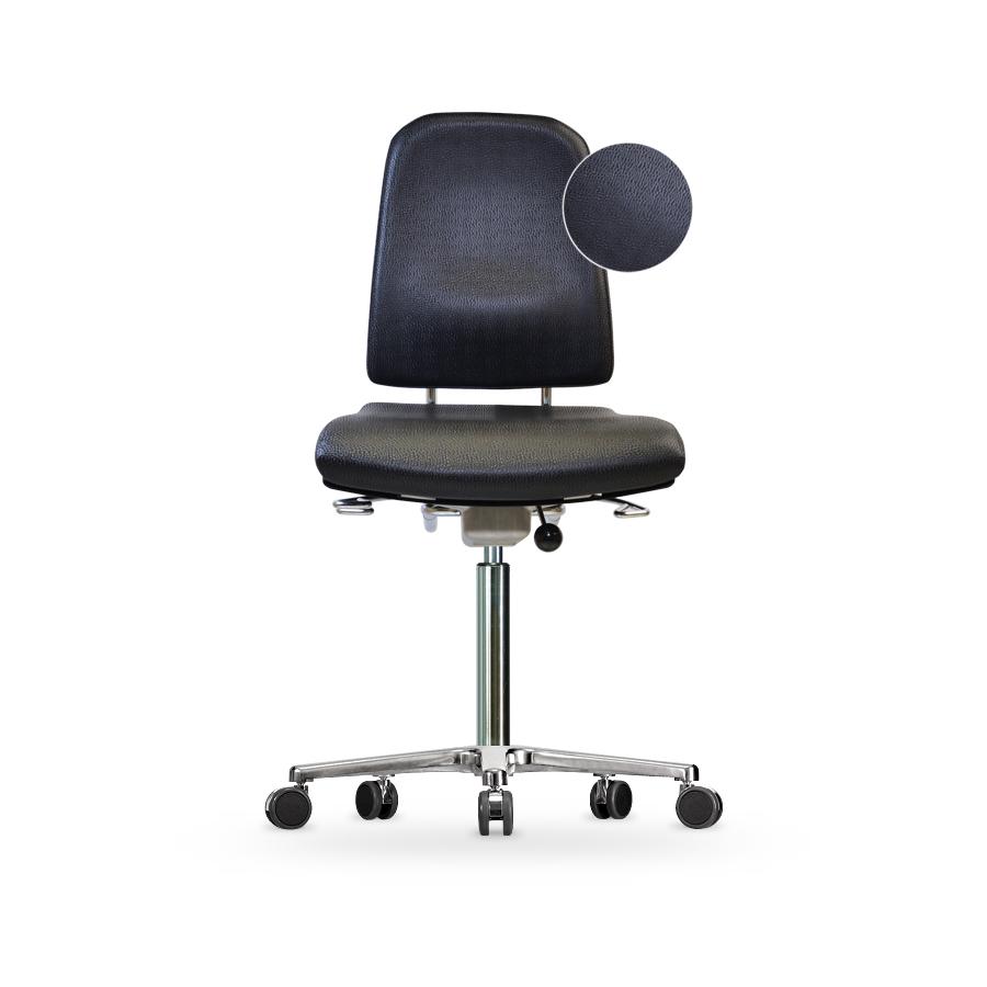 Židle KLIMASTAR WS 9320 KL, koženková, s kolečky