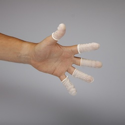 Prsty antistatické, nitril, barva bílá, vel.M