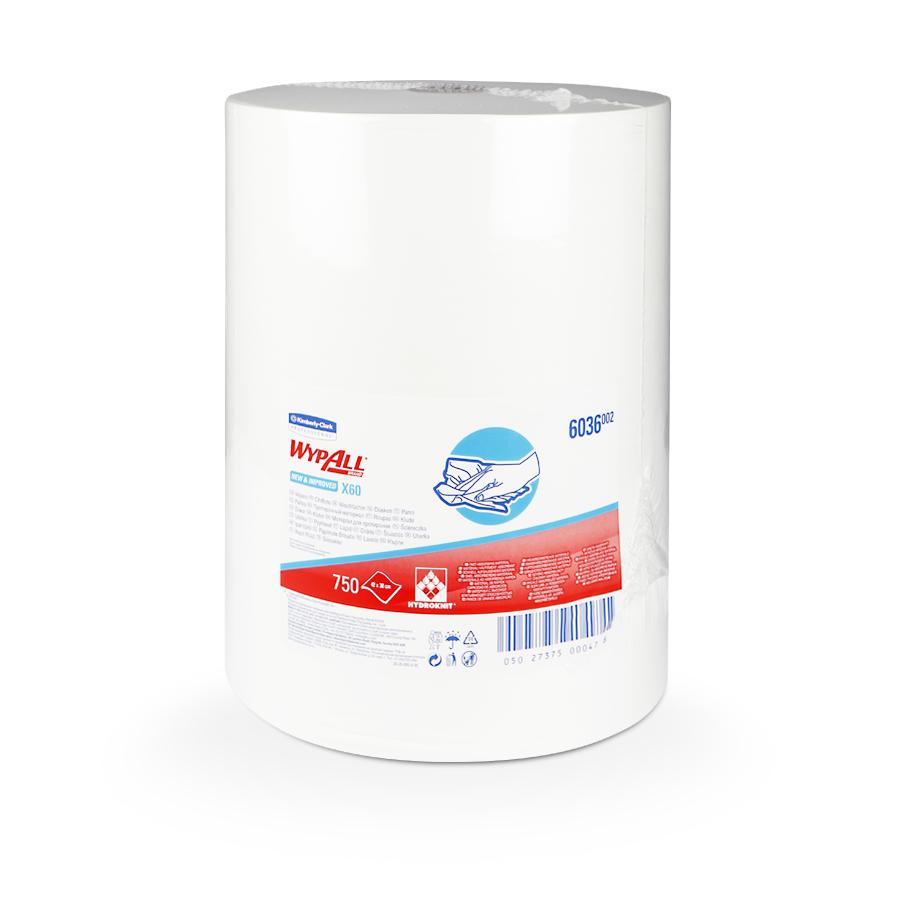 Netkané utěrky WypAll® X60   1 x 750 útržků