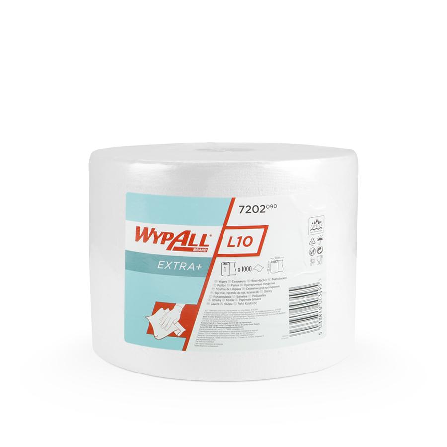 Papírové utěrky WypAll® L10 EXTRA+ bílá | 1 x 1000 útržků