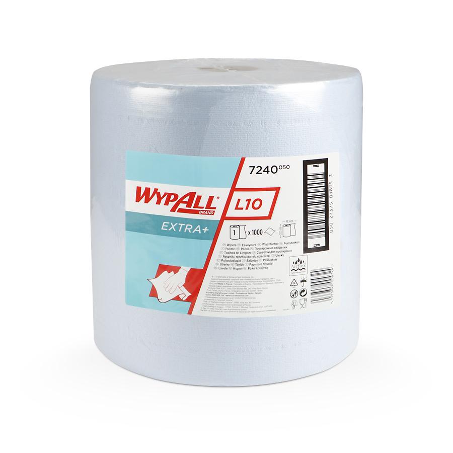 Papírové utěrky WypAll® L10 EXTRA+ modrá | 1 x 1000 útržků