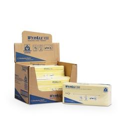 Netkané utěrky WypAll® X50 žlutá | 6 x 50 utěrek