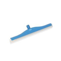 Stěrka s dvojitou čepelí VIKAN, šířka 40 cm, modrá, otočná objímka, čepel pryžová