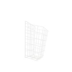 Drátěný odpadkový koš | 15 l, bílý komaxit