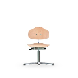 Židle CLASSIC WS 1010, dřevěná, s kluzáky