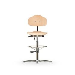 Židle CLASSIC WS 1011, dřevěná, s kluzáky, vysoká
