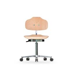 Židle CLASSIC WS 1020, dřevěná, s kolečky