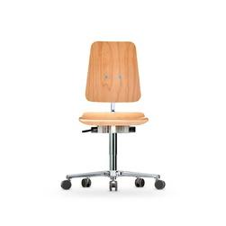 Židle CLASSIC WS 1020 XL, dřevěná, s kolečky