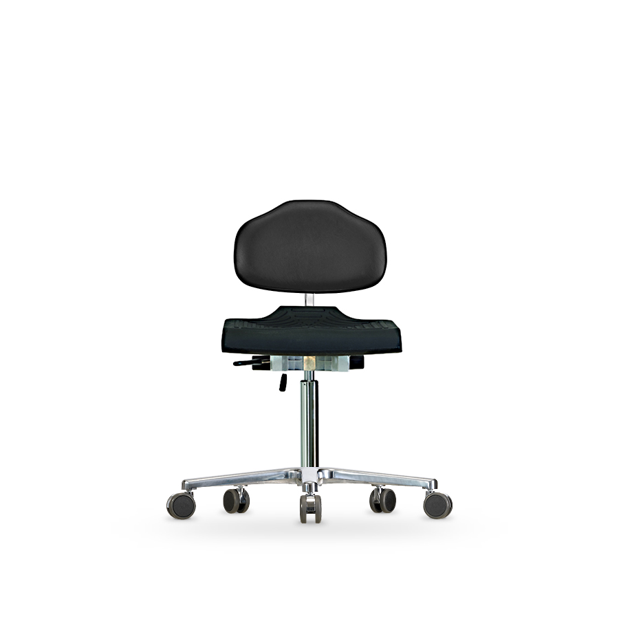 Židle CLASSIC WS 1220, polyuretan/koženka, s kolečky