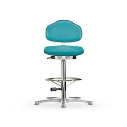 Židle CLASSIC WS 1311 KL, koženková, s kluzáky, vysoká