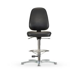 Židle CLEANROOM WS 1711 RR ESD, koženková, s kluzáky, vysoká