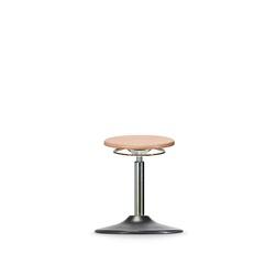 Stolička WS 3010 T, dřevěná, s kruhovým podstavcem