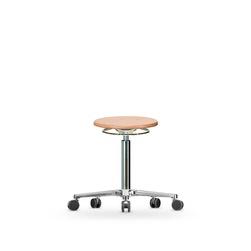Stolička WS 3020, dřevěná, s kolečky